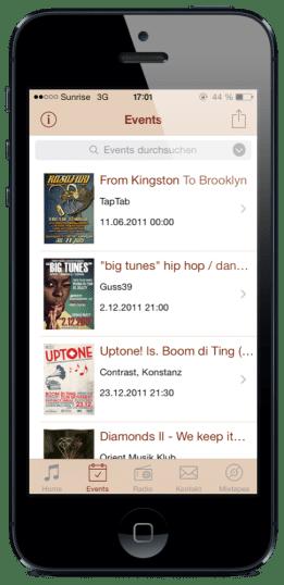 Boom di Ting App: Events