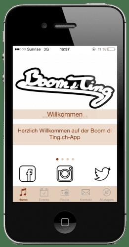 Boom di Ting App: Home