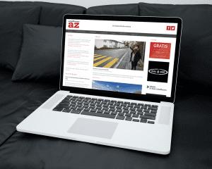 Schaffhauser AZ: Neue Webseite für die AZ im Rahmen unseres Webdesign-Angebots.
