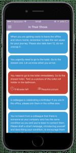 Takeda InTheirShoes App: Einblick in die App