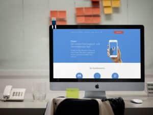 Umsetzung einer Webseite für das Dreet App Startup Projekt.