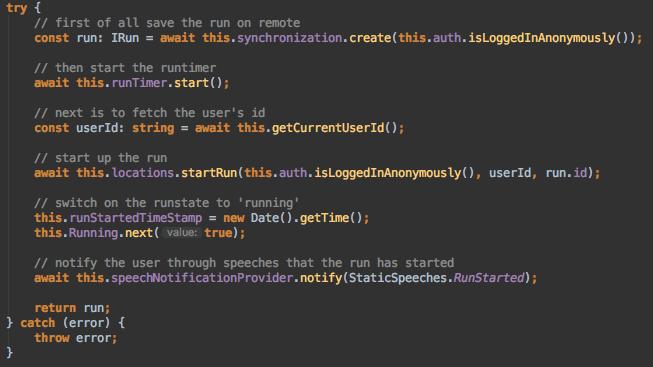 Einblick in den Sourcecode einer hybriden App von IRTECH