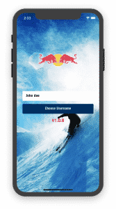 Ski App: Login screen