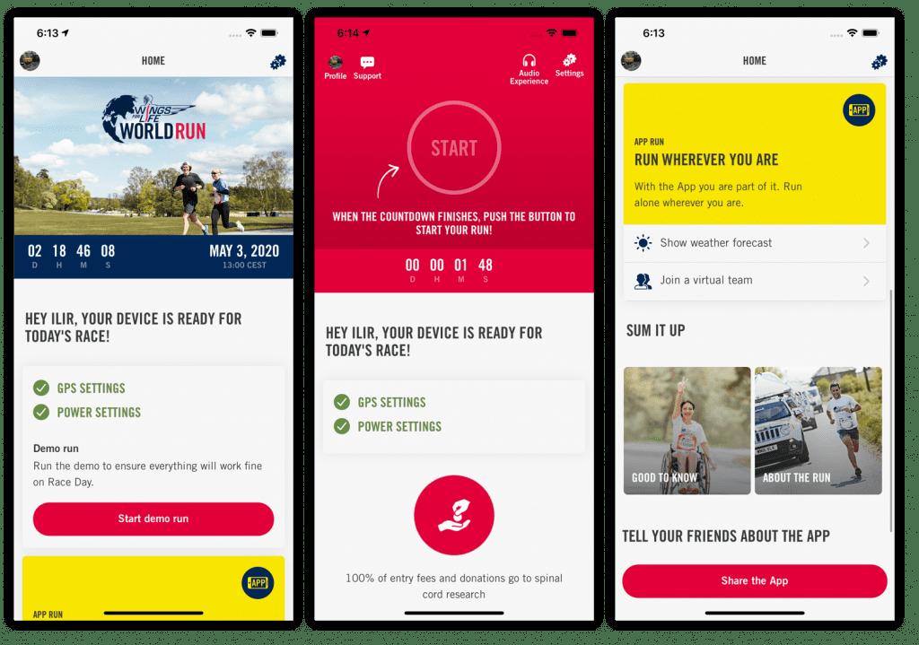 Ansicht einer ortsbasierten App-Lösung wo per Mobile Location Tracking eine Lösung gebaut wurde.